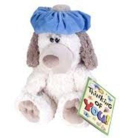 "Wild Republic Dog with Headache Stuffed Animal - 10"""