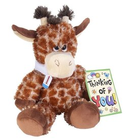 "Wild Republic Giraffe Sore Throat Stuffed Animal - 10"""