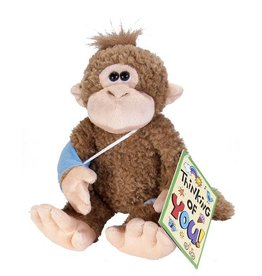 "Wild Republic Broken Arm Monkey Stuffed Animal - 10"""