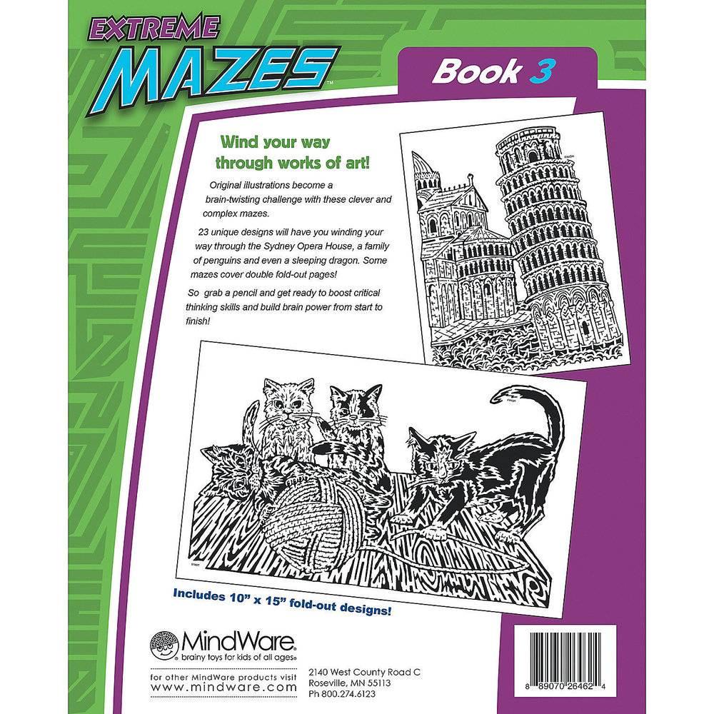 Crib Mattress Liner MindWare Extreme Mazes Book 3 - Grow Children's Boutique Ltd.