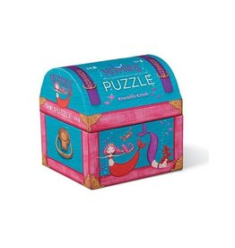 Crocodile Creek Mini Chest Mermaids Puzzle