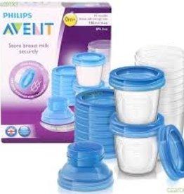Avent Breast Milk Storage Cups (10 x 180ML/6ox)
