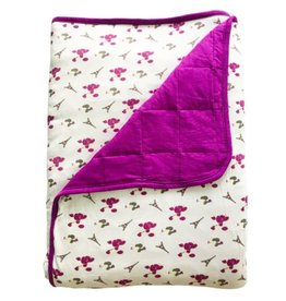 Kyte Baby Printed Toddler Blanket in Berry/La France