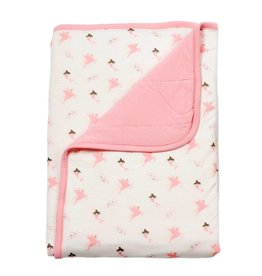 Kyte Baby Printed Baby Blanket in Petal/Mythical