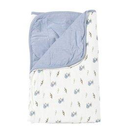 Kyte Baby Printed Baby Blanket in Slate/Aussie