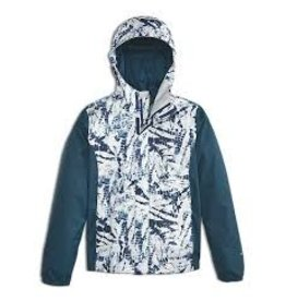 The North Face Girls' Resolve Reflective Jacket Blue Wing Teal Fern Print