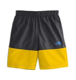 The North Face Boys' Class V Water Short Canary Yellow Logo Phantom Print