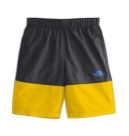 The North Face Boys' Class V Water Short Canary Yellow Logo Phantom Print