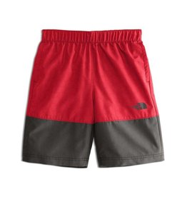 The North Face Boys' Class V Water Short TNF Red Logo Phantom Print