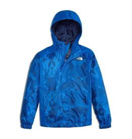 The North Face Boys' Resolve Reflective Jacket Turkish Sea Metric Mountain Print
