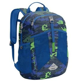 The North Face Youth Recon Squash Backpack Cosmic Blue Griddy Woodland Camo print/Turkish sea