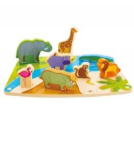 Hape Wild Animal Puzzle & Play