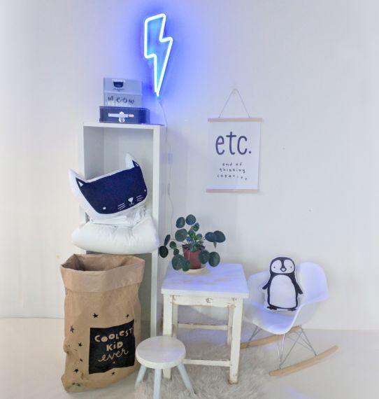 A Little Lovely Company Neon Light: Lightning Bolt- Blue