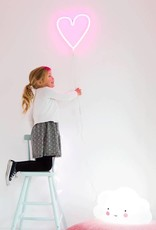 A Little Lovely Company Neon Light: Heart - Pink