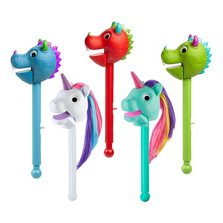 Educational Insights Puppet On A Stick Blue Dragon