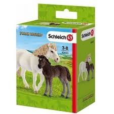 Schleich Pony Mare and Horse Foal