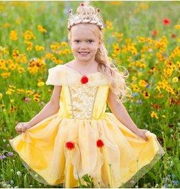 Great Pretenders Belle Tea Party Dress, Yellow, Size 5-6