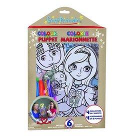 Great Pretenders Colour-A-Puppet Set
