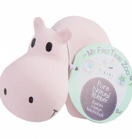 Tikiri My First Zoo Hippo Rattle Teething Toy