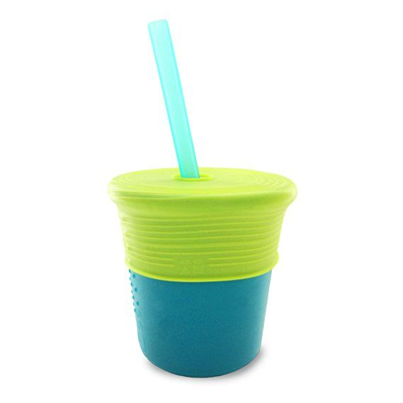 Silicone Straw Cup Set