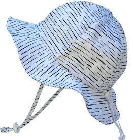 Grow-With-Me Sun Hat Cotton White Waves