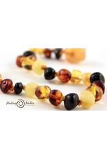 Healing Amber Multi ~ Circle ~ 15 inches