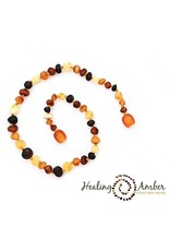 Healing Amber Raw Multi ~ Circle ~ 15 inches