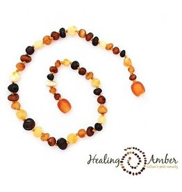 Healing Amber Necklace Raw Multi ~ Circle ~ 20 inch