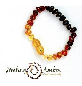 Healing Amber Rainbow ~ Circle ~ 6.5 inches (clasp)