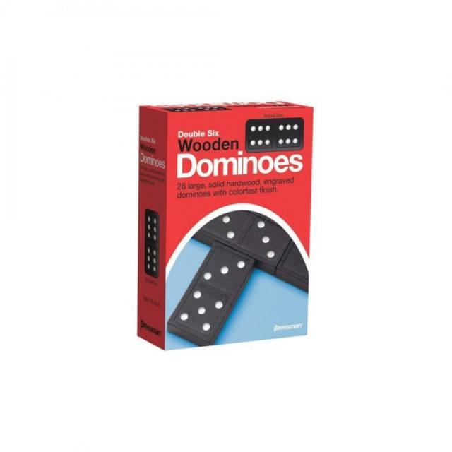 Double Six Wooden Dominoes
