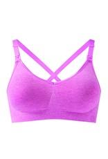 Bravado Body Silk Seamless Yoga Nursing Bra Pink Heather