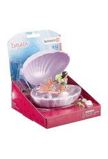 Schleich Mermaid with baby turtle in shell