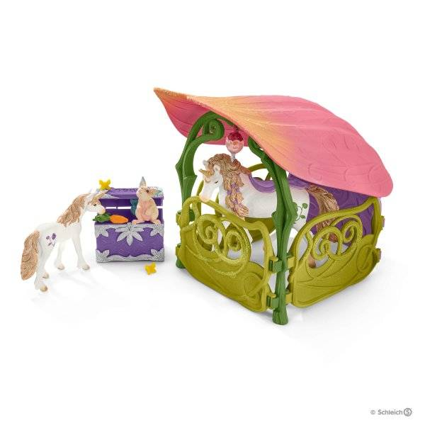 Schleich Flower house with lake + stable