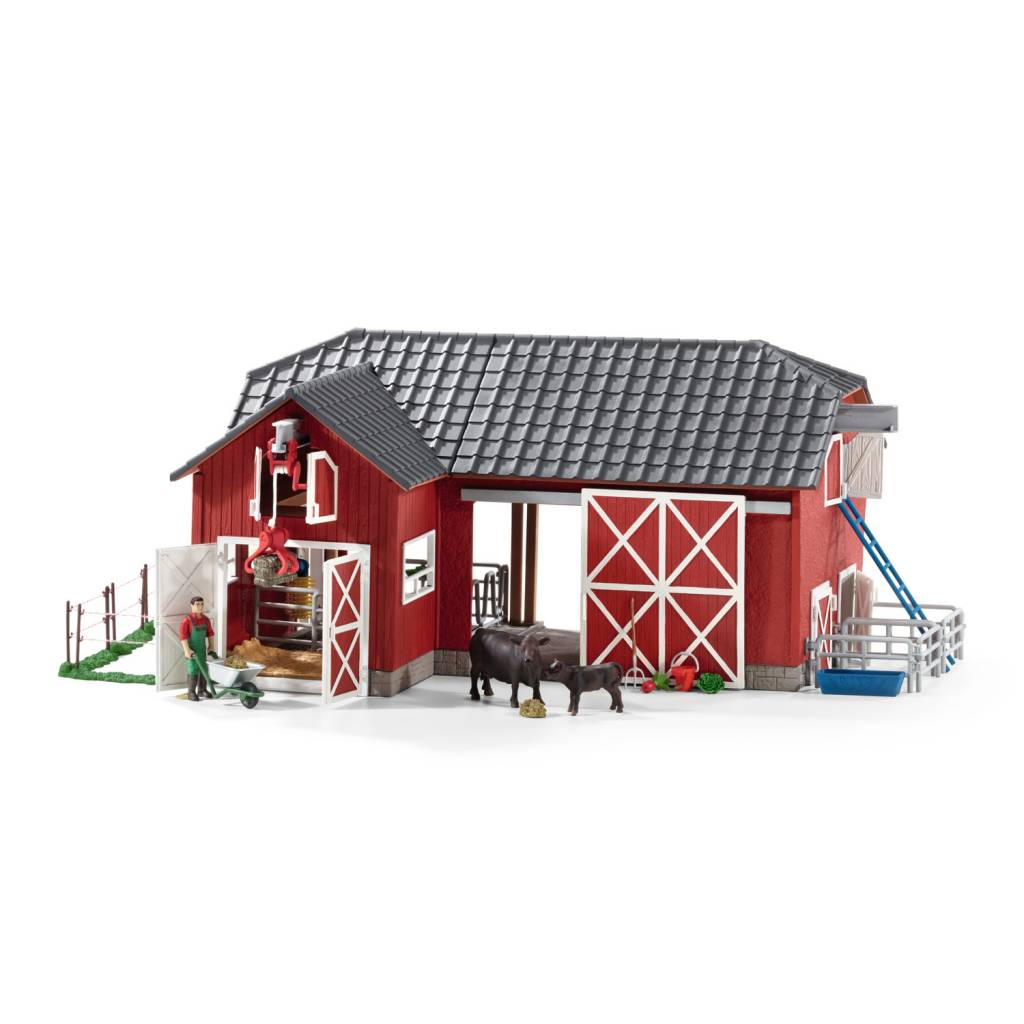 Schleich Large Red Barn with Animals and Accessories