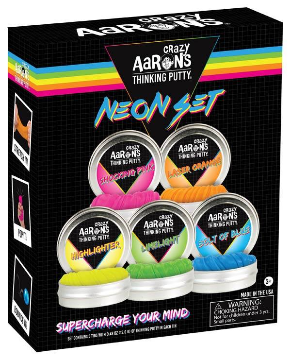 Crazy Aaron's Thinking Putty Neon Set- Box of 5