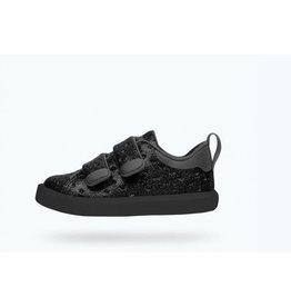 Native Monaco Velcro Child Black Glitter