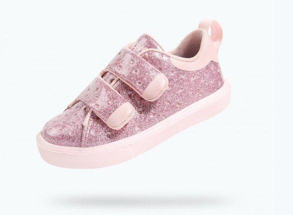 Native Monaco Velcro Child Pink Glitter/Cold Pink