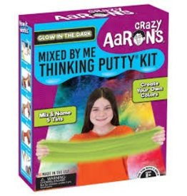 Crazy Aaron's Thinking Putty Mixed by Me Thinking Putty Kit Glow in the Dark