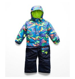 The North Face Toddler Insulated Jumpsuit Cosmic Blue Ombre Camo Print