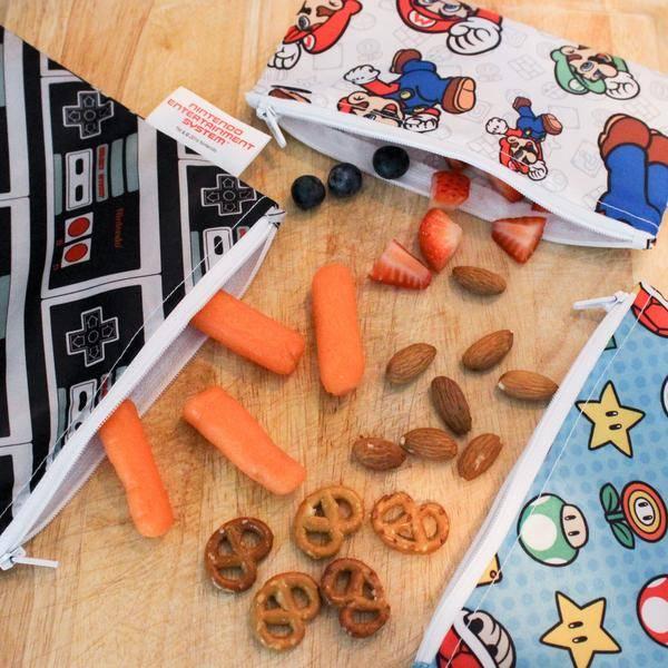 Bumkins Reusable Snack Bag 2 Pack Outdoors