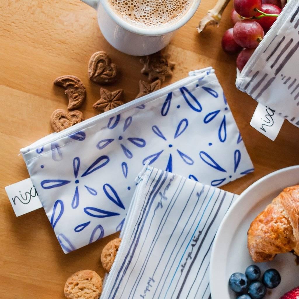Bumkins Nixi Recycled Snack Bags 3 Pack Petals