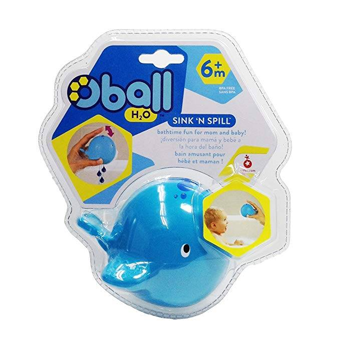 Oball H20 Sink 'n Spill Whale Bath Toy