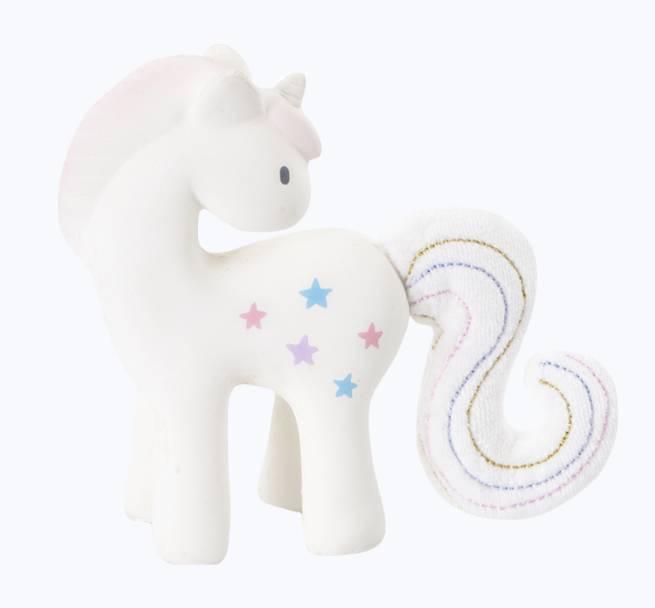 Tikiri Fairytales Unicorn Rattle with Crinkle Tail