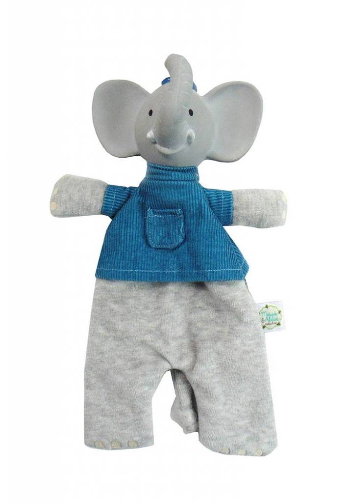 Alvin the Elephant Soft Rattle Toy