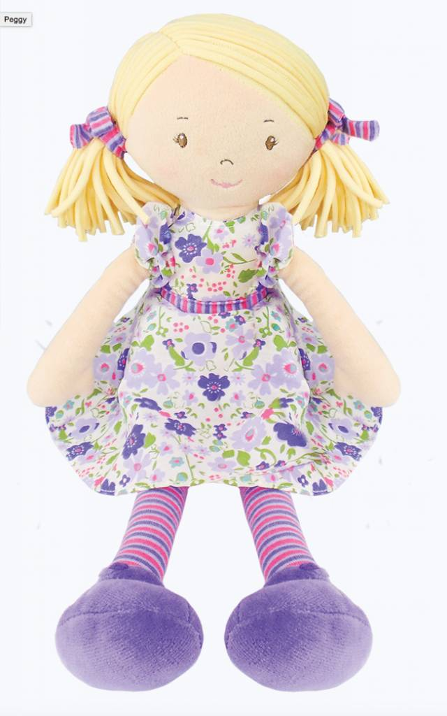 Bonikka Peggy - Blond hair with lilac & pink dress