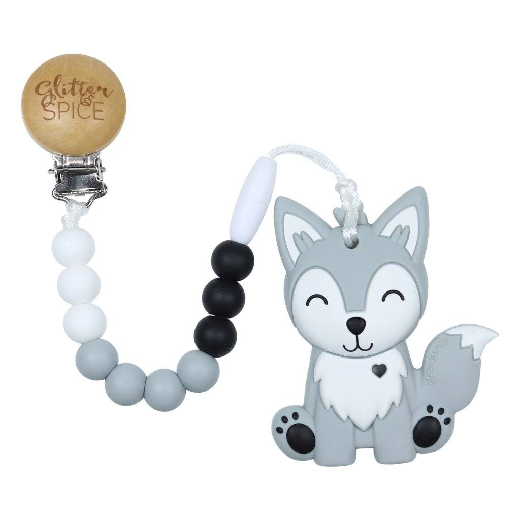 Glitter & Spice Wolf Pup Teether