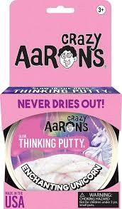 Crazy Aaron's Thinking Putty Enchanting Unicorn Glow in the Dark