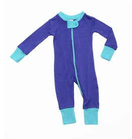 Wee Woolies Merino Zip Sleeper Twilight/Lagoon
