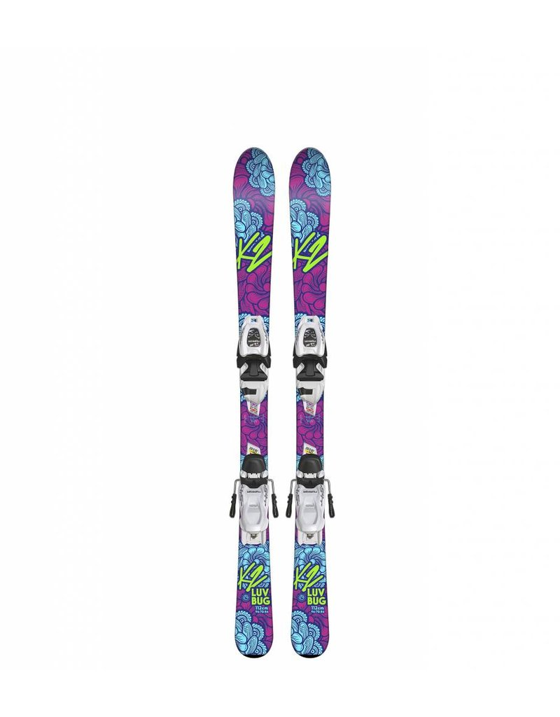 K2 Luv Bug w/ Marker FTD 4.5 Kids Skis