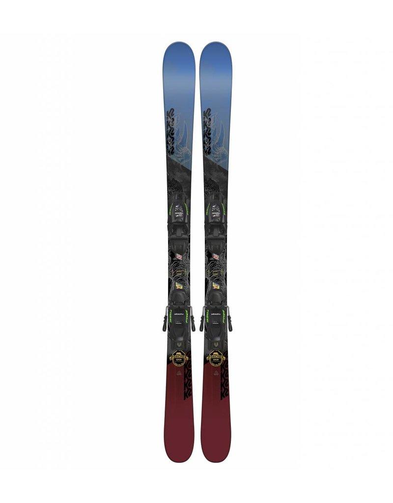K2 Poacher Jr w/ Marker FDT 7.0 Kids Skis